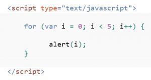 einfacher for loop