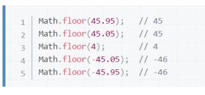 Funktion Math.floor